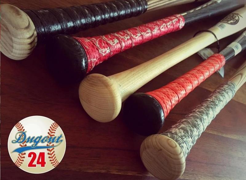 Holz Baseballschläger mit Lizard Skins